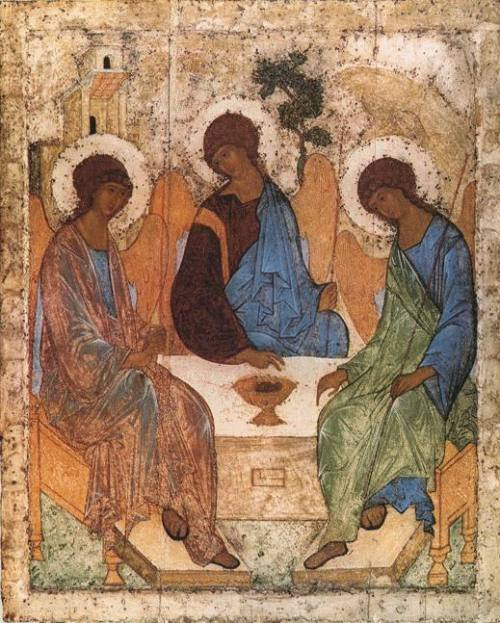 Rublev's icon of the HolyTrinity