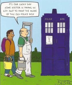 Painting the TARDIS