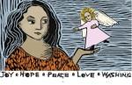 Love joy peace washing